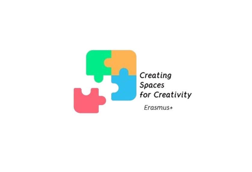 Logo projektu erasmus creating sapces